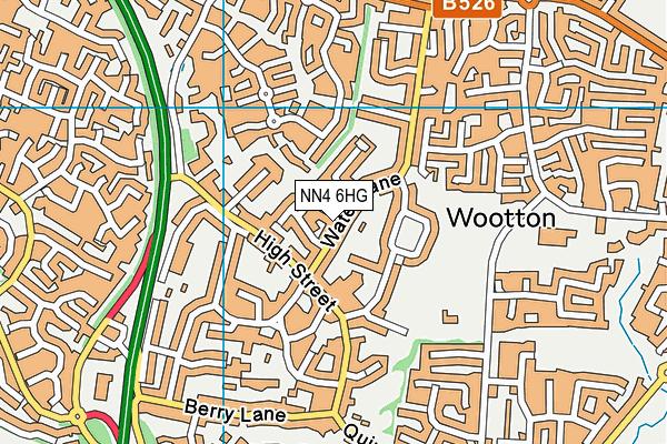 NN4 6HG map - OS VectorMap District (Ordnance Survey)