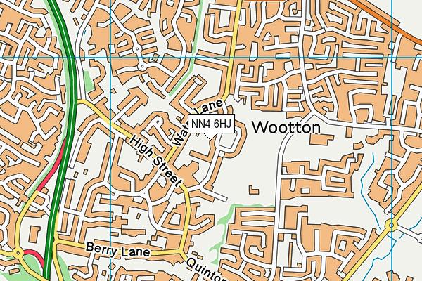 Wootton Primary School map (NN4 6HJ) - OS VectorMap District (Ordnance Survey)