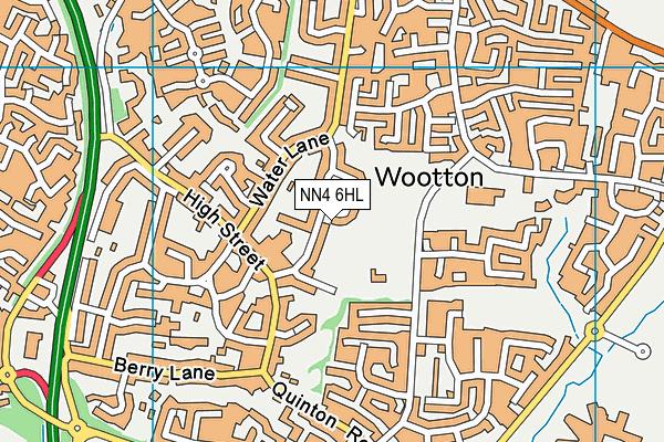 NN4 6HL map - OS VectorMap District (Ordnance Survey)