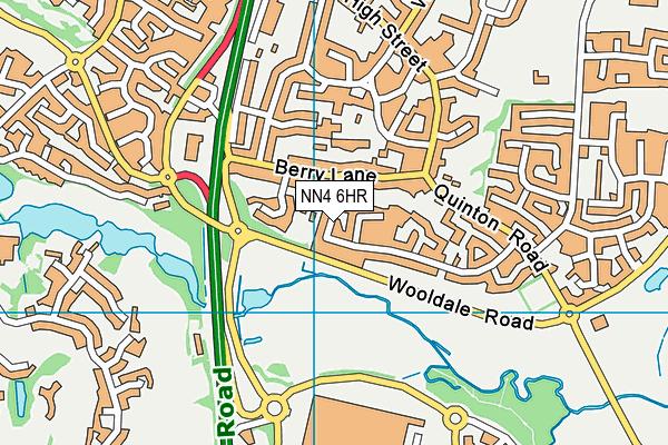 NN4 6HR map - OS VectorMap District (Ordnance Survey)