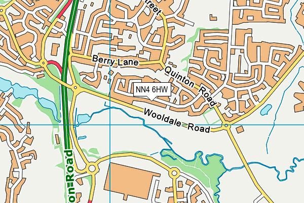 NN4 6HW map - OS VectorMap District (Ordnance Survey)