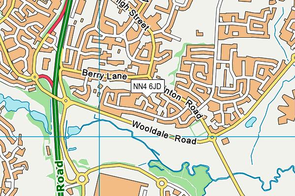 NN4 6JD map - OS VectorMap District (Ordnance Survey)
