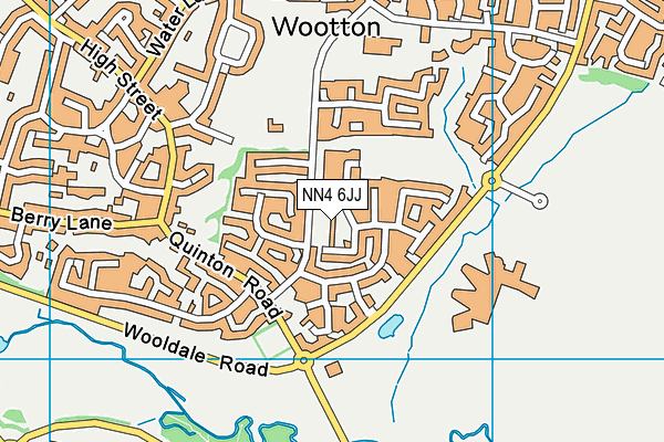 NN4 6JJ map - OS VectorMap District (Ordnance Survey)