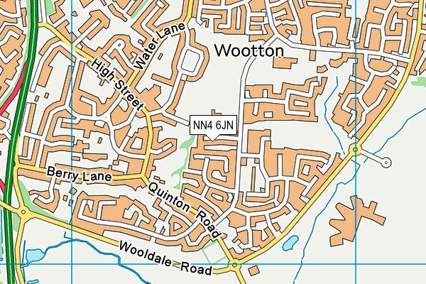 NN4 6JN map - OS VectorMap District (Ordnance Survey)