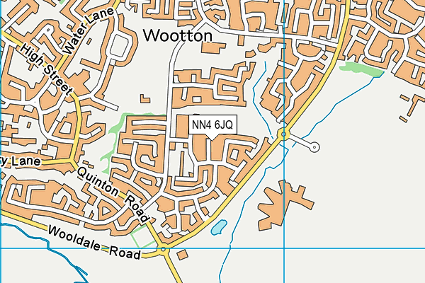 NN4 6JQ map - OS VectorMap District (Ordnance Survey)