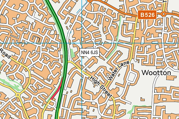 NN4 6JS map - OS VectorMap District (Ordnance Survey)