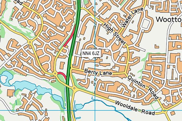 NN4 6JZ map - OS VectorMap District (Ordnance Survey)