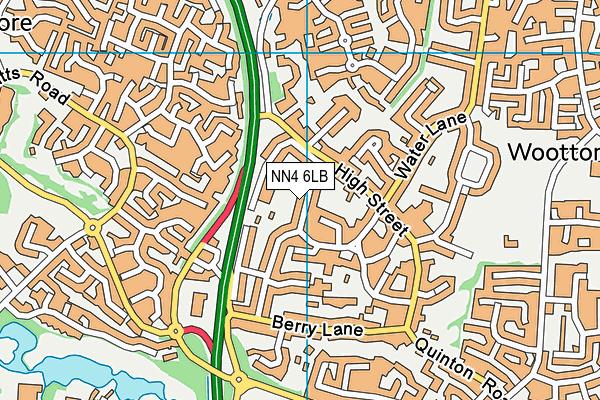NN4 6LB map - OS VectorMap District (Ordnance Survey)