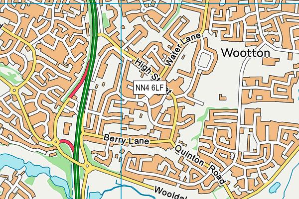 NN4 6LF map - OS VectorMap District (Ordnance Survey)