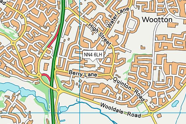 NN4 6LH map - OS VectorMap District (Ordnance Survey)