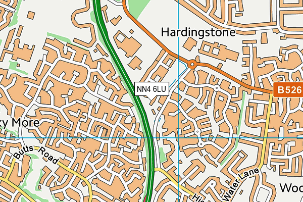NN4 6LU map - OS VectorMap District (Ordnance Survey)
