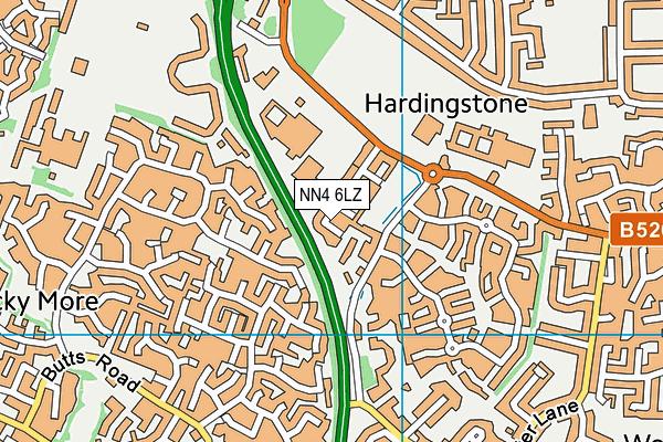 NN4 6LZ map - OS VectorMap District (Ordnance Survey)