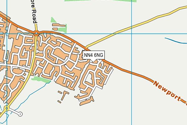 NN4 6NG map - OS VectorMap District (Ordnance Survey)