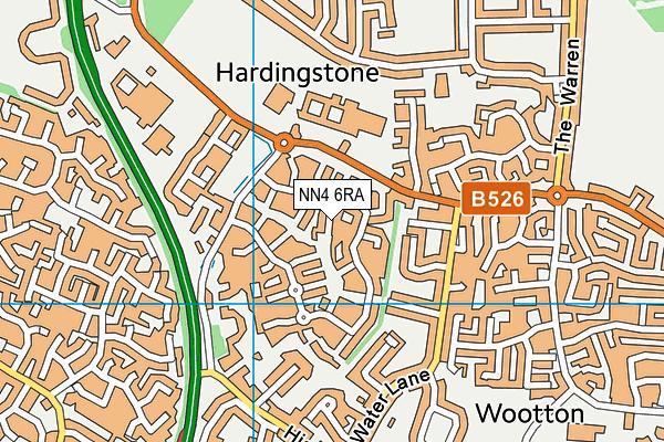 NN4 6RA map - OS VectorMap District (Ordnance Survey)