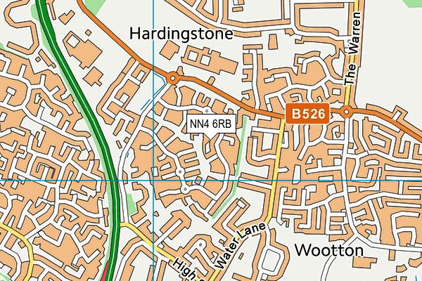 NN4 6RB map - OS VectorMap District (Ordnance Survey)
