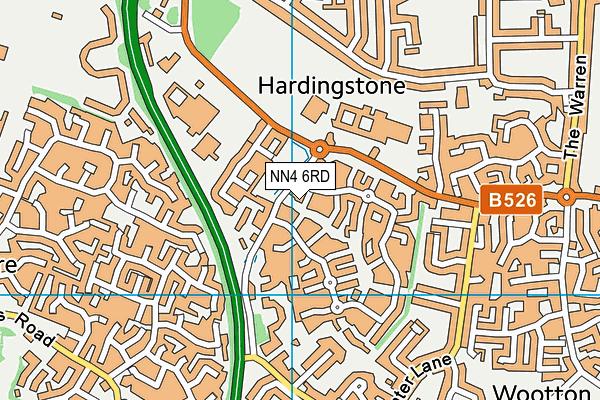NN4 6RD map - OS VectorMap District (Ordnance Survey)