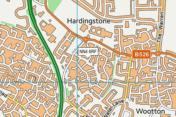 NN4 6RF map - OS VectorMap District (Ordnance Survey)