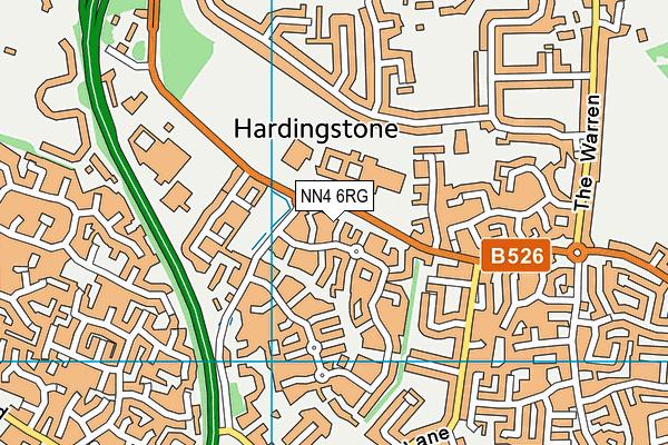 NN4 6RG map - OS VectorMap District (Ordnance Survey)