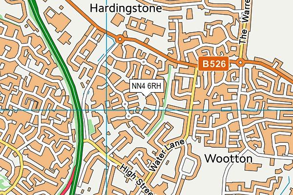 NN4 6RH map - OS VectorMap District (Ordnance Survey)