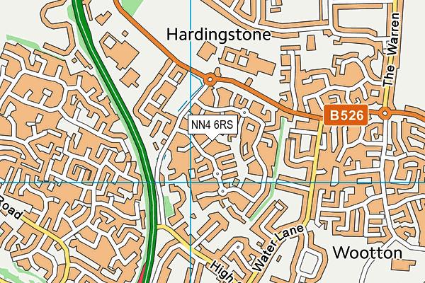 NN4 6RS map - OS VectorMap District (Ordnance Survey)