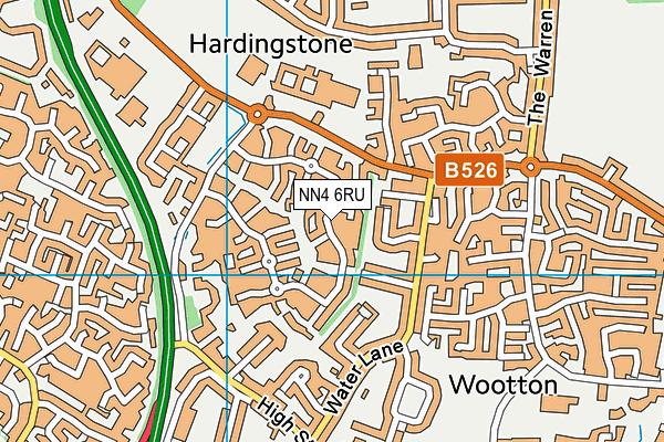 NN4 6RU map - OS VectorMap District (Ordnance Survey)