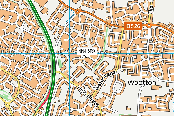 NN4 6RX map - OS VectorMap District (Ordnance Survey)