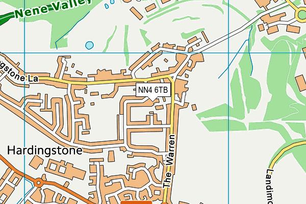 NN4 6TB map - OS VectorMap District (Ordnance Survey)