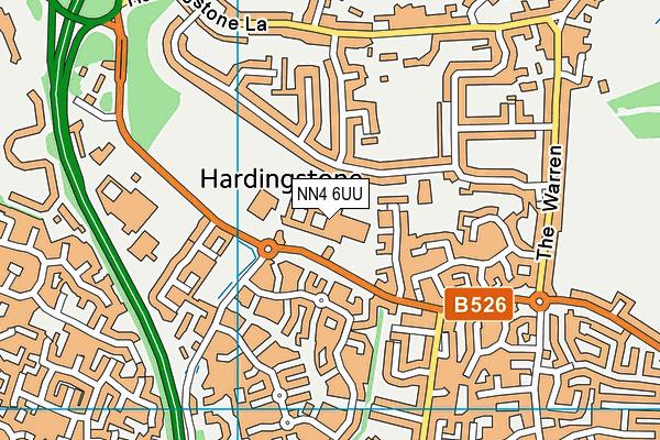 Northampton High School Sports Centre map (NN4 6UU) - OS VectorMap District (Ordnance Survey)