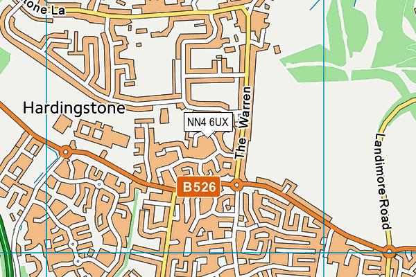 NN4 6UX map - OS VectorMap District (Ordnance Survey)