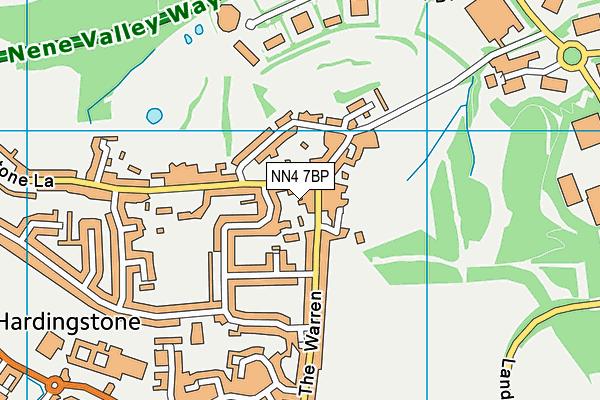 NN4 7BP map - OS VectorMap District (Ordnance Survey)