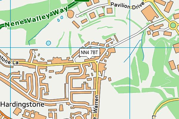 NN4 7BT map - OS VectorMap District (Ordnance Survey)