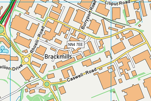 Image Fitness Club map (NN4 7EE) - OS VectorMap District (Ordnance Survey)