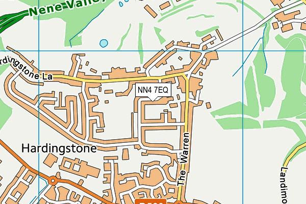 NN4 7EQ map - OS VectorMap District (Ordnance Survey)