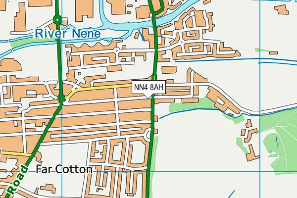 NN4 8AH map - OS VectorMap District (Ordnance Survey)