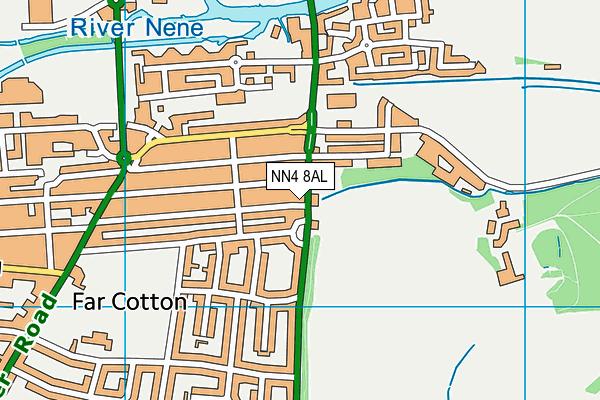 NN4 8AL map - OS VectorMap District (Ordnance Survey)