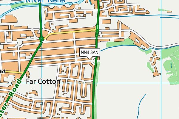 NN4 8AN map - OS VectorMap District (Ordnance Survey)