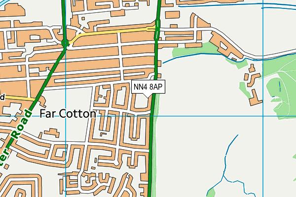 NN4 8AP map - OS VectorMap District (Ordnance Survey)