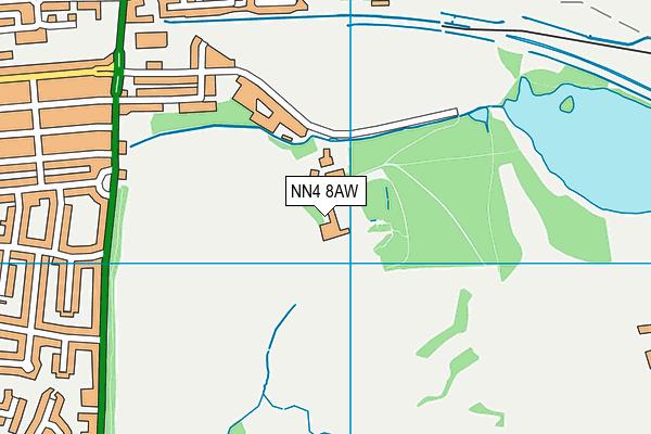 Delapre Abbey (Closed) map (NN4 8AW) - OS VectorMap District (Ordnance Survey)