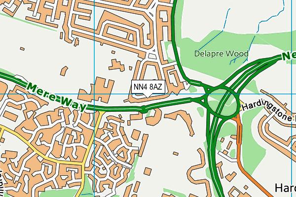 The Abbey Primary School map (NN4 8AZ) - OS VectorMap District (Ordnance Survey)