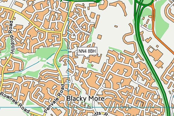 Wootton Hall (Closed) map (NN4 8BH) - OS VectorMap District (Ordnance Survey)