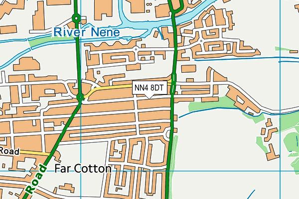 NN4 8DT map - OS VectorMap District (Ordnance Survey)