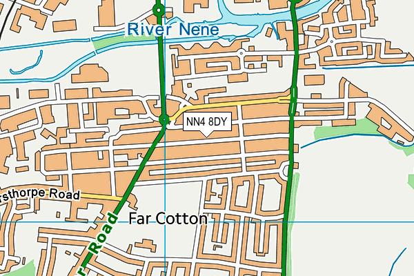 NN4 8DY map - OS VectorMap District (Ordnance Survey)