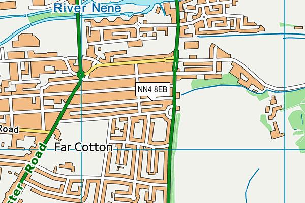 NN4 8EB map - OS VectorMap District (Ordnance Survey)