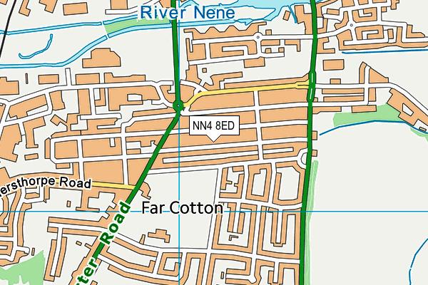 NN4 8ED map - OS VectorMap District (Ordnance Survey)