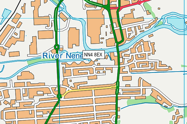 NN4 8EX map - OS VectorMap District (Ordnance Survey)