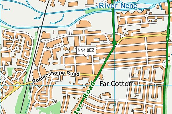 NN4 8EZ map - OS VectorMap District (Ordnance Survey)