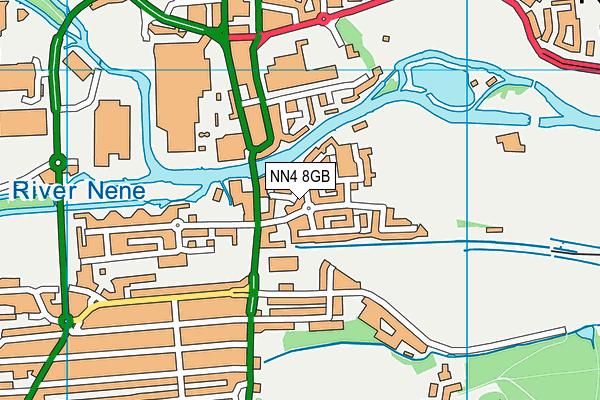 NN4 8GB map - OS VectorMap District (Ordnance Survey)