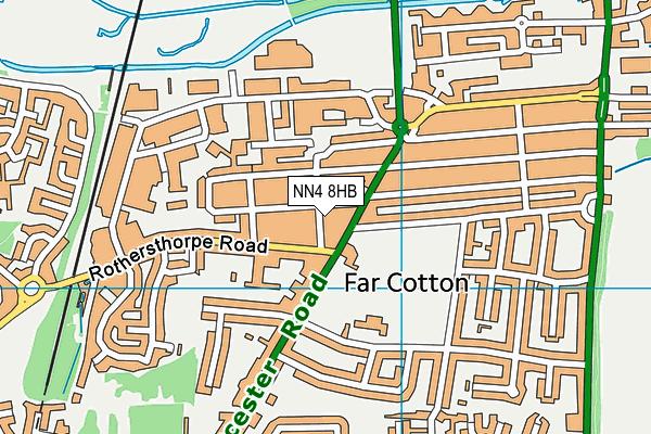 NN4 8HB map - OS VectorMap District (Ordnance Survey)