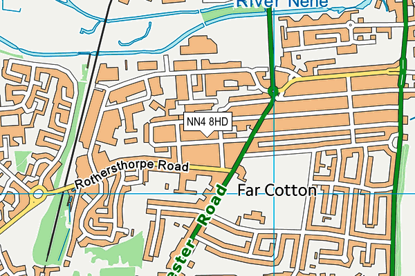 NN4 8HD map - OS VectorMap District (Ordnance Survey)