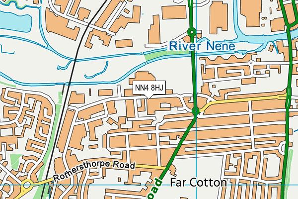 NN4 8HJ map - OS VectorMap District (Ordnance Survey)